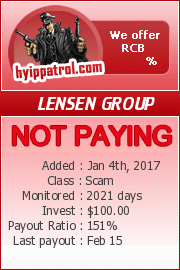 hyippatrol.com - hyip lensen group ltd