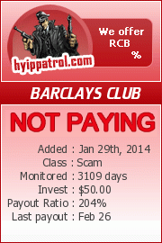 hyippatrol.com - hyip barclays royal club